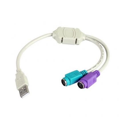 Cable USB 2.0 3GO C101/ USB Macho - 2x PS2 Macho