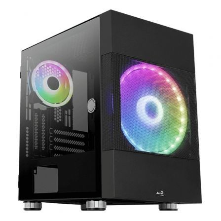 Caja Gaming Minitorre Aerocool Atomicbk