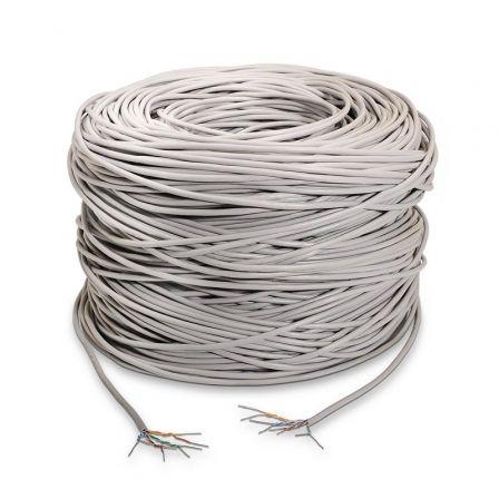 BOBINA DE CABLE NANOCABLE A133-0214 - CAT5E - UTP RÍGIDO - AWG24 - 305M - GRIS