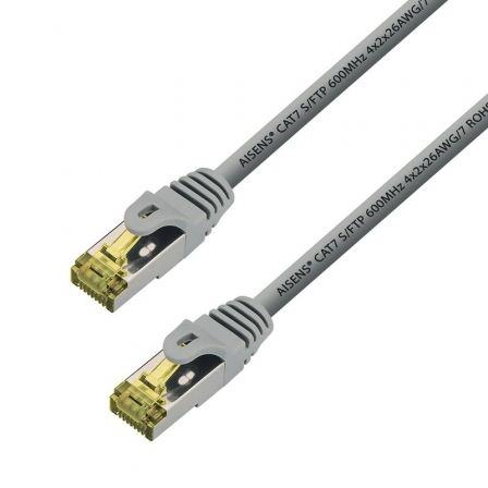Cable de Red RJ45 S/FTP Aisens A146-0335 Cat.7/ 2m/ Gris