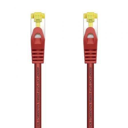 Cable de Red RJ45 SFTP Aisens A146-0468 Cat.7/ 25cm/ Rojo