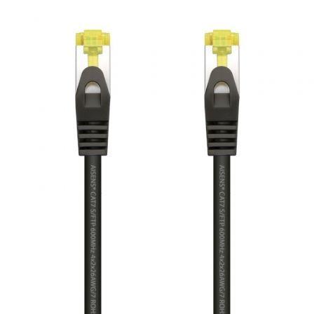 Cable de Red RJ45 SFTP Aisens A146-0487 Cat.7/ 2m/ Negro
