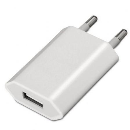AISENS - MINI CARGADOR USB, 5V/1A, BLANCO