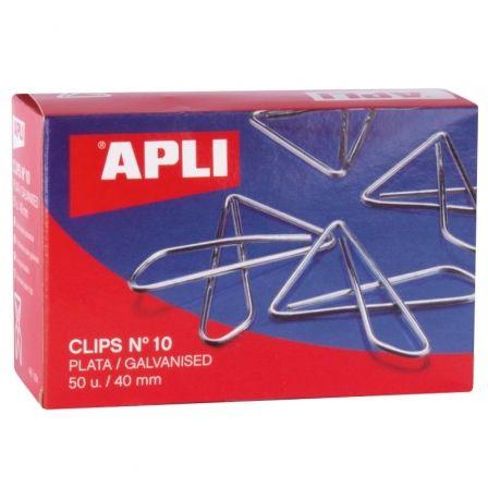 Clips Mariposa Nº10 Apli 11914/ 50 unidades/ Plata
