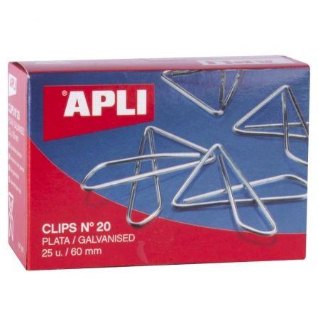 Clips Mariposa Nº20 Apli 11915/ 25 unidades/ Plata