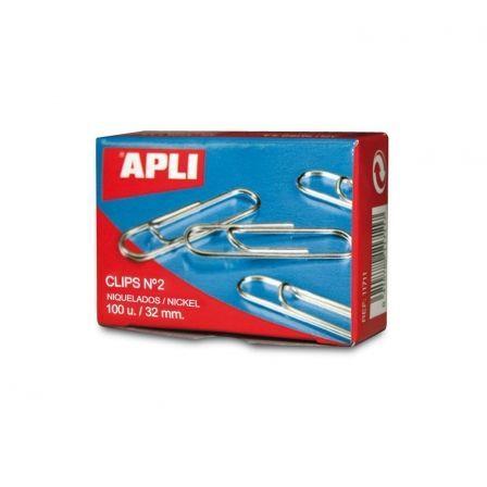 API-CLIP PLATEADO 100UDS