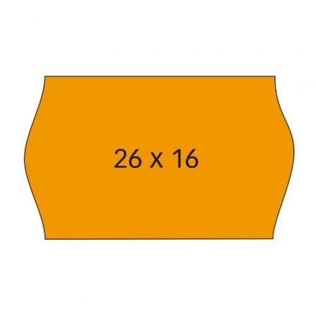 Etiquetas Adhesivas en Rollo Apli 101719/ 26 x 16mm/ Pack de 6 Rollos/ Naranja