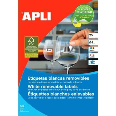 Etiquetas Adhesivas Apli 10197/ 17.8 x 10mm/ 25 Hojas
