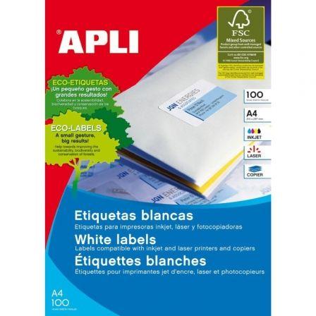 APLI PAPER - etiquetas - 100 uds. - A4