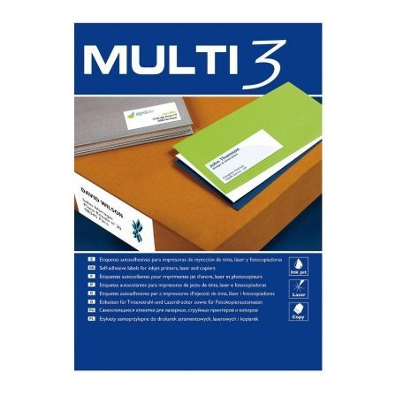 Etiquetas Adhesivas Apli Multi3/ 105 x 37mm/ 100 Hojas
