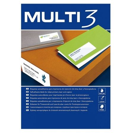 Etiquetas Adhesivas Apli Multi3/ 70 x 30mm/ 100 Hojas