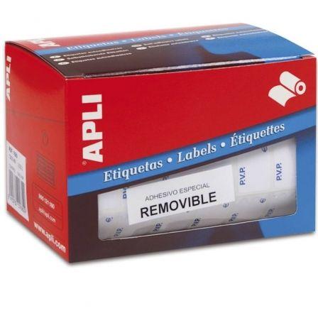 Etiquetas Adhesivas en Rollo Apli 10084 PVP/ 12 x 18mm/ 3360 uds