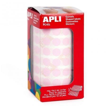 Etiquetas Adhesivas en Rollo Apli 11484/ Ø15mm/ 2832 uds/ Rosa