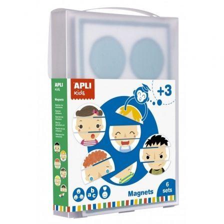Juego Magnets Emociones XXL Apli Kids 17460/ 18 Fichas + Escenario Imantado