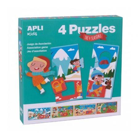 Pack 4 Puzles Las 4 Estaciones Apli Kids 17895