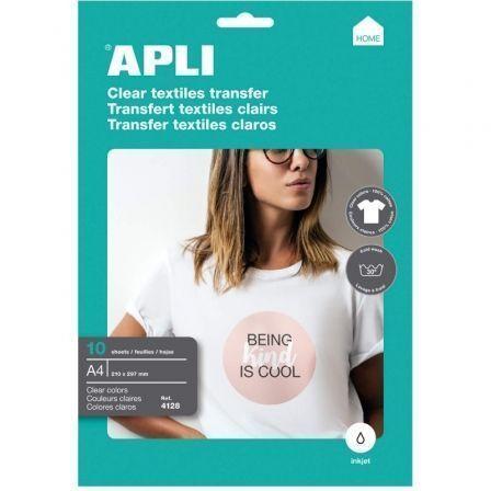 Papel Transfer Camisetas Apli 4128/ DIN A4/ 10 Hojas