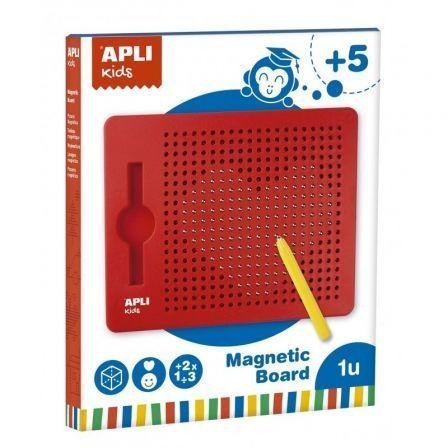 Pizarra Magnética Apli Kids 17536/ Lápiz Amarillo + 10 Fichas para Niños