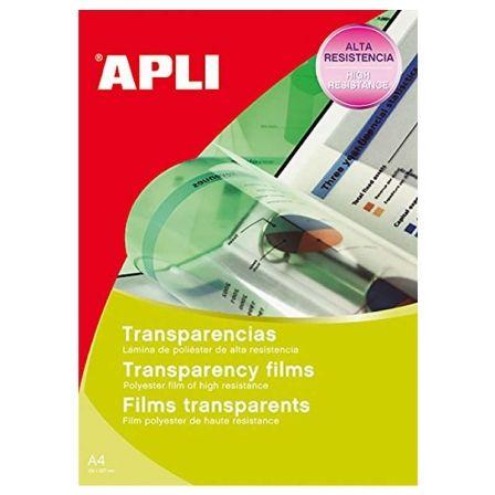 Transparencias Adhesivas Apli 10290/ DIN A4/ 10 Hojas