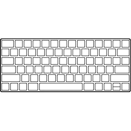 Teclado Inalámbrico Apple Magic Keyboard con Touch ID/ Plata
