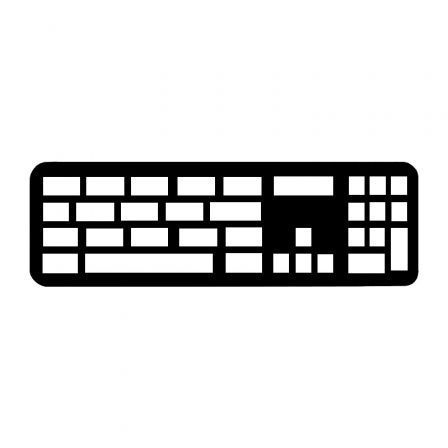 Teclado Inalámbrico Apple Magic Keyboard con Touch ID/ Teclado Numérico/ Plata