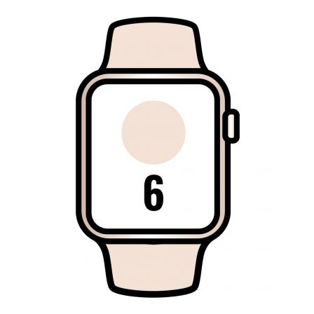 Apple Watch Series 6/ GPS/ Cellular/ 40mm/ Caja de Aluminio en Oro/ Correa Deportiva Rosa Arena