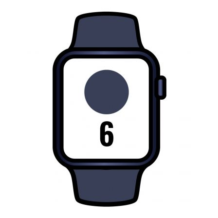 Apple Watch Series 6/ GPS/ Cellular/ 40mm/ Caja de Aluminio en Aluminio en Azul/ Correa Deportiva Azul Marino Intenso