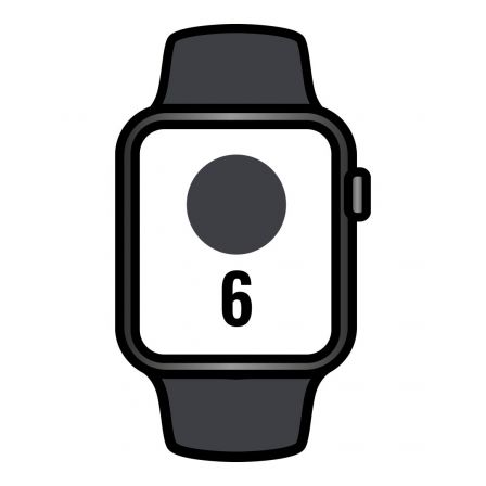 Apple Watch Series 6/ GPS/ 40mm/ Caja de Aluminio en Gris Espacial/ Correa Deportiva Negra