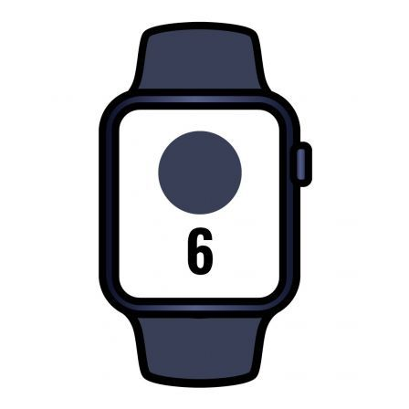 Apple Watch Series 6/ GPS/ 40mm/ Caja de Aluminio en Azul/ Correa  Deportiva Azul Marino Intenso