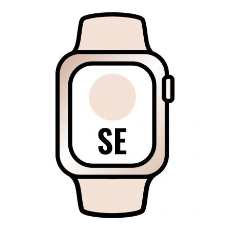 Apple Watch SE/ GPS/ Cellular/ 40mm/ Caja de Aluminio en Oro/ Correa Deportiva Rosa Arena
