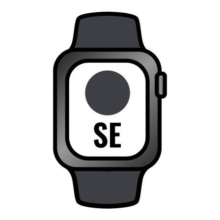 Apple Watch SE/ GPS/ Cellular/ 40mm/ Caja de Aluminio en Gris Espacial/ Correa Deportiva Negra