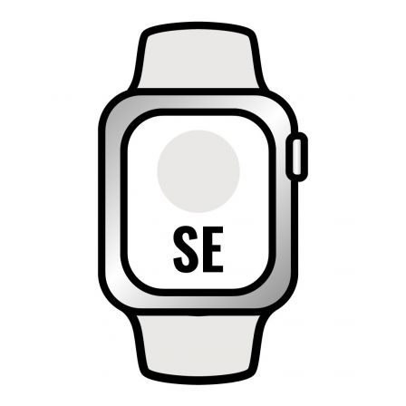 Apple Watch SE/ GPS/ Cellular/ 44mm/ Caja de Aluminio en Plata/ Correa Deportiva Blanca