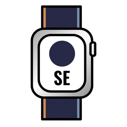 Apple Watch SE/ GPS/ Cellular/ 44mm/ Caja de Aluminio en Plata/ Correa Loop Deportiva Azul Marino Intenso