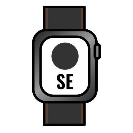 Apple Watch SE/ GPS/ Cellular/ 44mm/ Caja de Aluminio en Gris Espacial/ Correa Loop Deportiva Carbón
