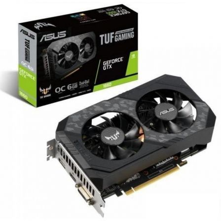 TARJETA GRÁFICA ASUS TUF GAMING GEFORCE GTX 1660 SÚPER OC EDITION - 1530/1845MHZ - 6GB GDDR6 - PCIE 3.0 - HDMI - DVI-D - DISPLAYPORT