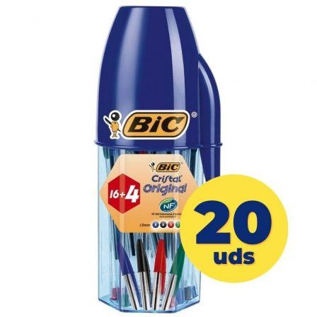Bolígrafos de Tinta de Aceite Bic Cristal Original 929081/ 20 unidades/ Colores Surtidos