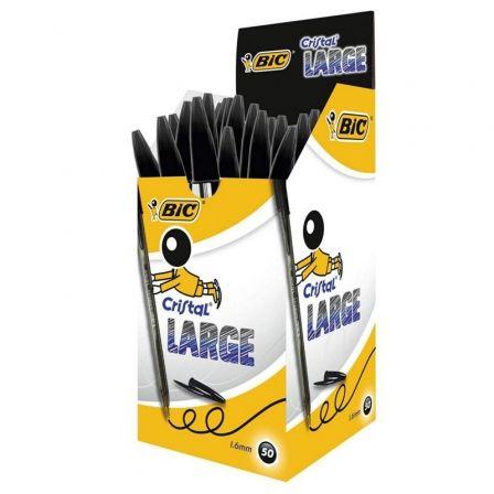 Bolígrafos de Tinta de Aceite Bic Largue 880648/ 50 unidades/ Negros