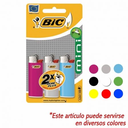 Blister de Mecheros Bic Classic Mini/ 3 uds