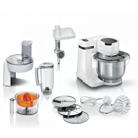 Robot de Cocina Bosch MUM Serie 2/ 700W/ Capacidad 3.8L/ Blanco/ 10 Accesorios