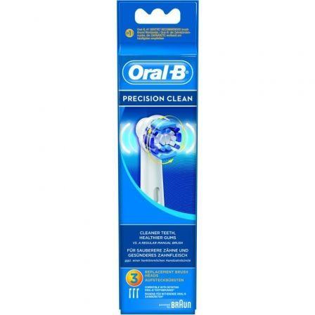 Cabezal de Recambio Braun para cepillo Braun Oral-B Precision Clean/ Pack 3 uds