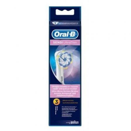 Cabezal de Recambio Braun para cepillo Braun Oral-B Sensi UltraThin/ Pack 3 uds