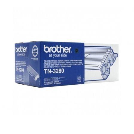 Tóner Original Brother TN-3280 Alta Capacidad/ Negro