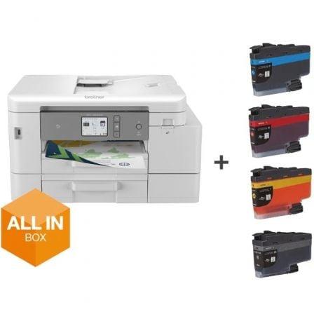 Multifunción Brother MFC-J4540DWXL WiFi/ Fax/ Dúplex/ Pack impresora + consumibles XL/ Blanca