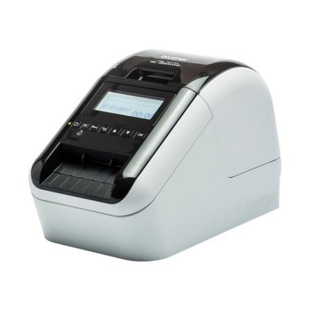 Impresora de Etiquetas Brother QL-820NWB/ Térmica/ Ancho etiqueta 62mm/ USB-Bluetooth-WiFi-Ethernet/ Blanca y Negra