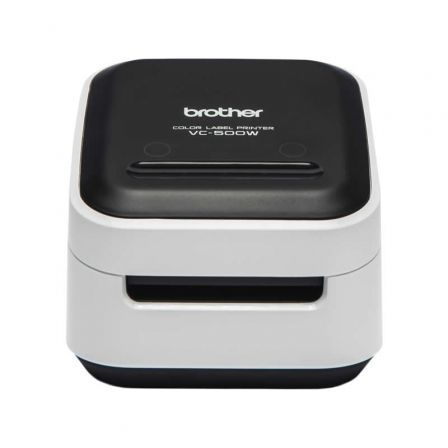 Impresora de Etiquetas Color Brother VC-500W/ Zero Ink/ Ancho etiqueta 50mm/ USB-WiFi/ Blanca y Negra