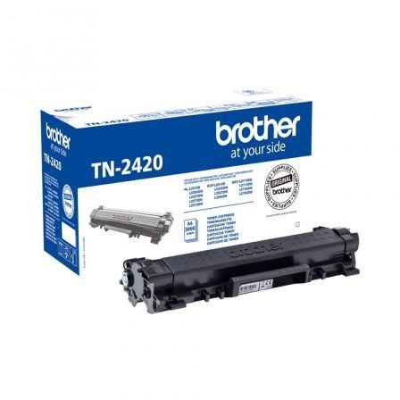 Tóner Original Brother TN-2420 Alta Capacidad/ Negro