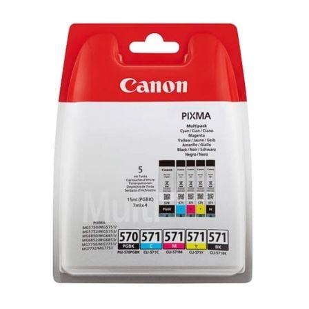 Cartucho de Tinta Original Canon PGI-570BK + CLI-571Multipack/ Cian/ Magenta/ Amarillo/ Negro
