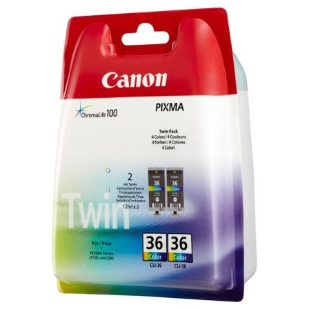 Cartucho de Tinta Original Canon CLI-36 Multipack/ Tricolor
