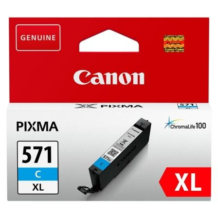 Cartucho de Tinta Original Canon CLI-571CXL Alta Capacidad/ Cian