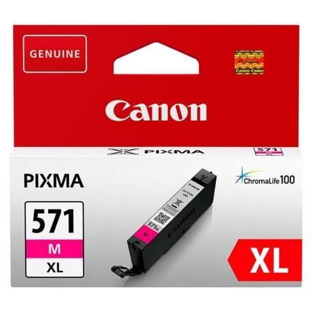 Cartucho de Tinta Original Canon CLI-571MXL Alta Capacidad/ Magenta