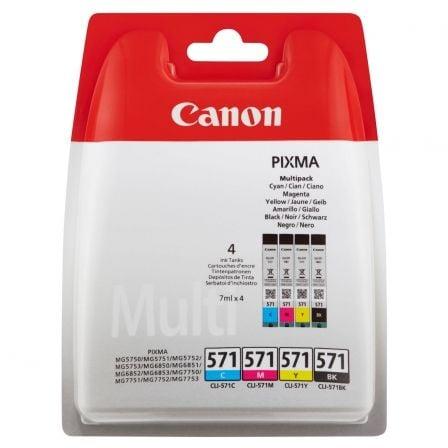 Cartucho de Tinta Original Canon CLI-571 Multipack/ Cian/ Magenta/ Amarillo/ Negro